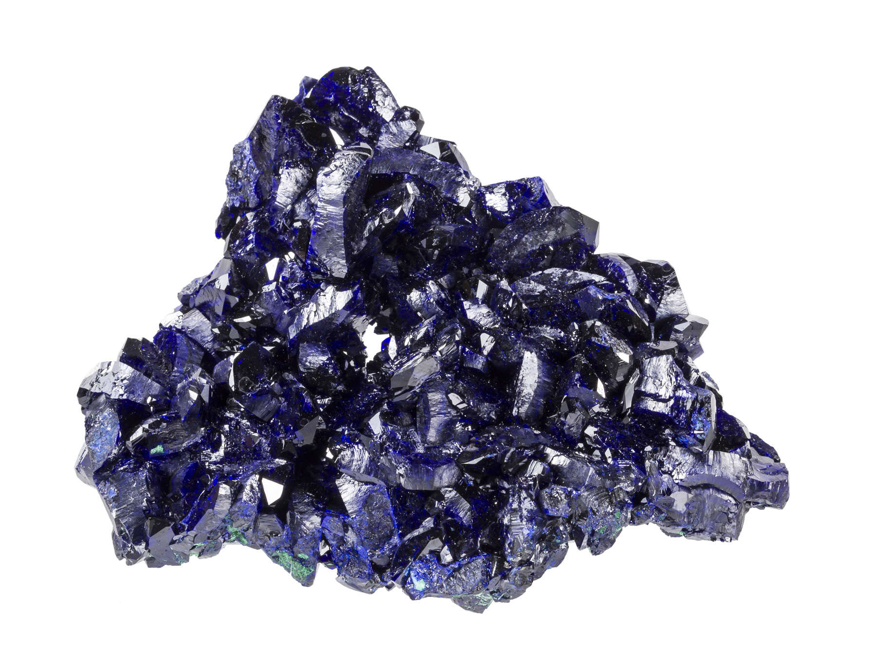 An interesting hole formed creation striking deep blue azurite