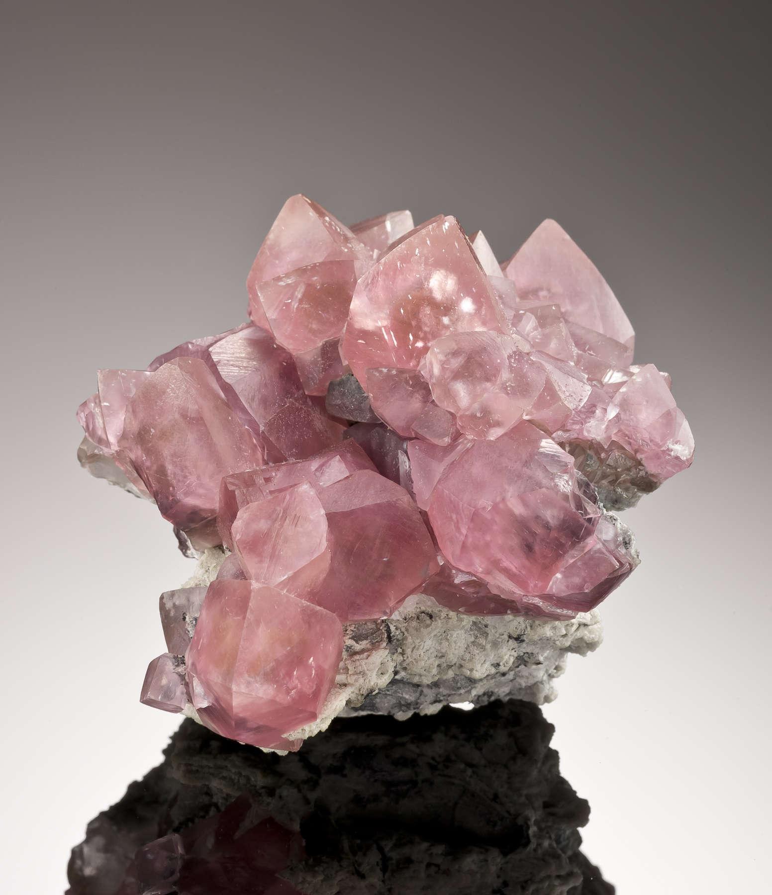 Sharp crystals classic soft pink smithsonite like Tsumeb late 1960s