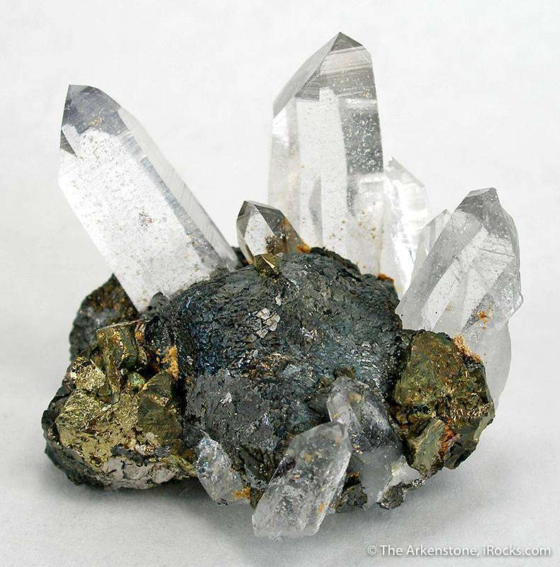 A brilliantly lustrous ball stepped stannite crystals flanked splaying