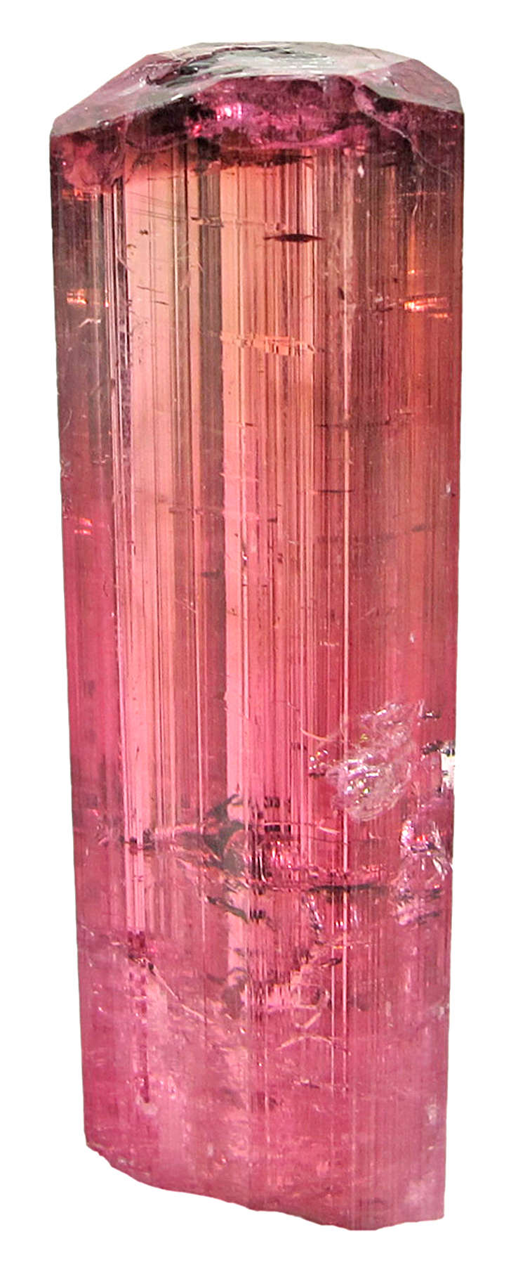 This elbaite crystal limpid glassy gemmy fine raspberry red color