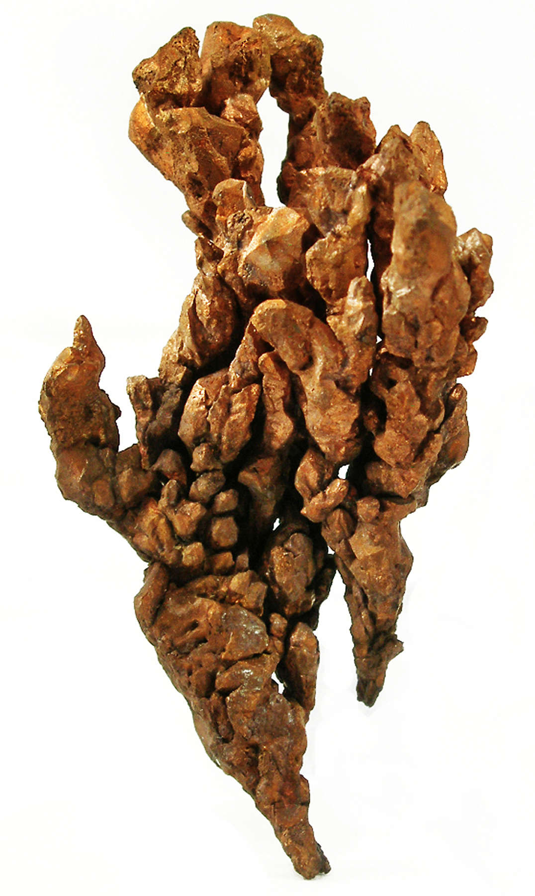This thick branching dendritic copper specimen composed individual