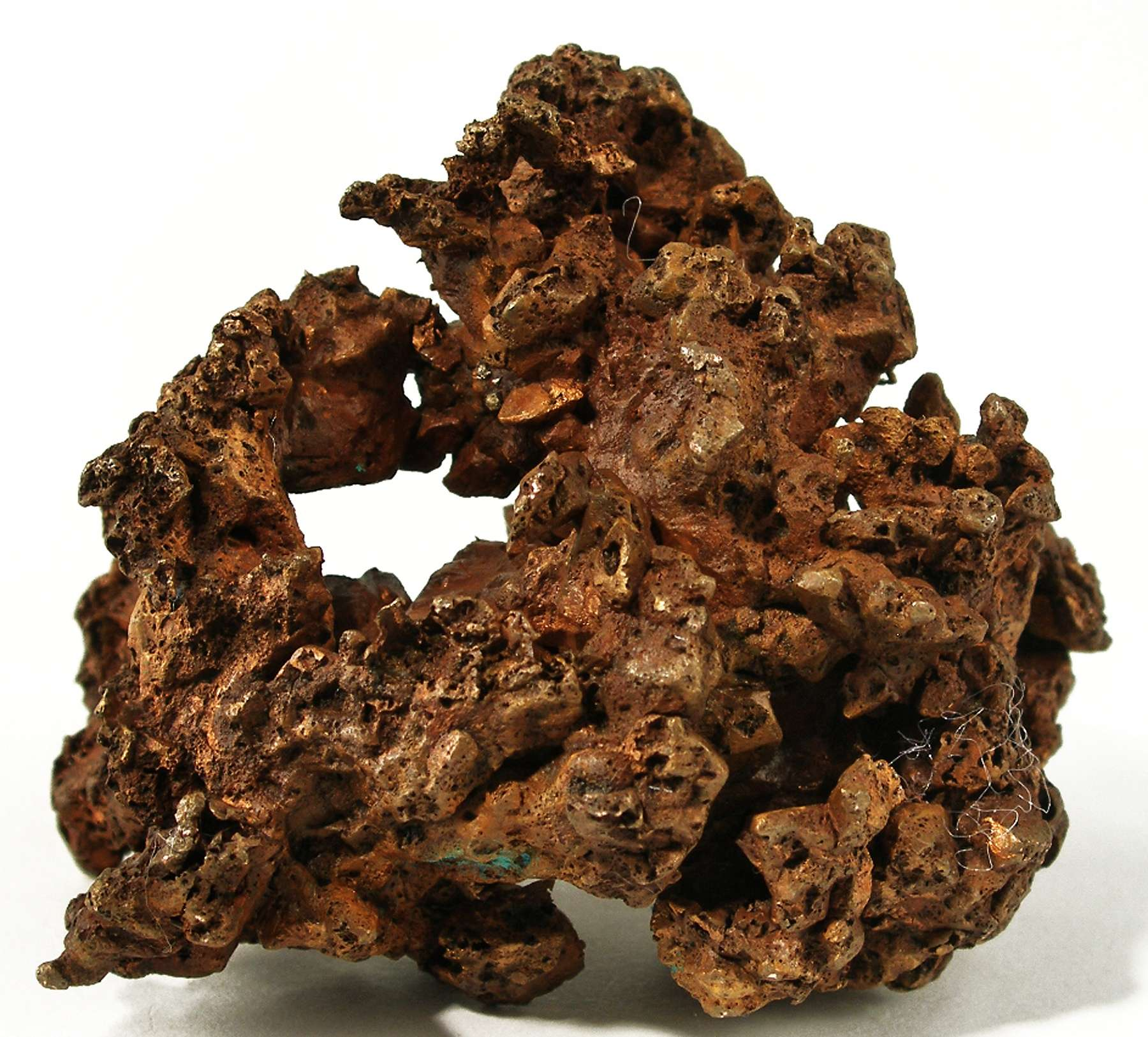 This solid mass copper composed individual crystals 1 5 cm The luster