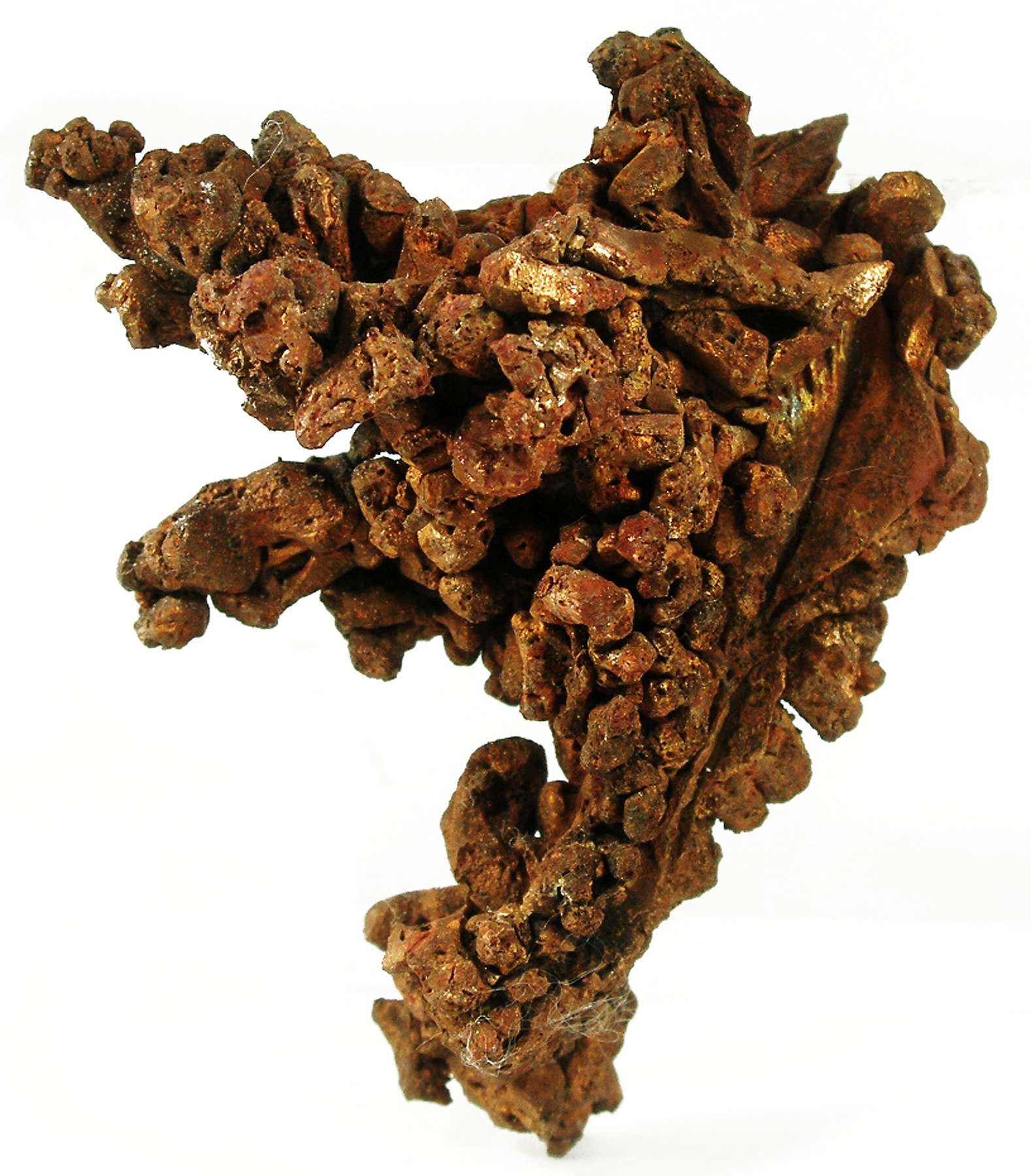 The highlight solid mass copper crystals 5 5 cm long doubly terminated