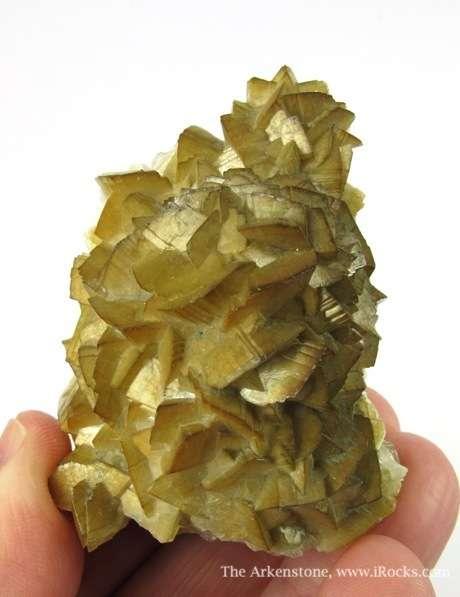 Sharp iridescent crystals Smithsonite knob Galena The Smithsonite