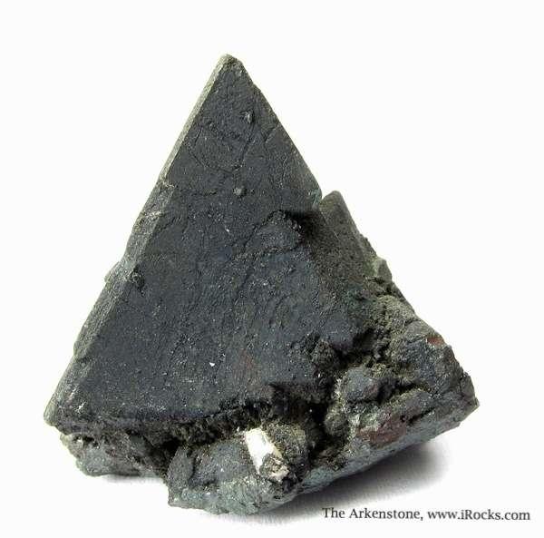 An unusually sharp isolated single Tennantite crystal Tennantite