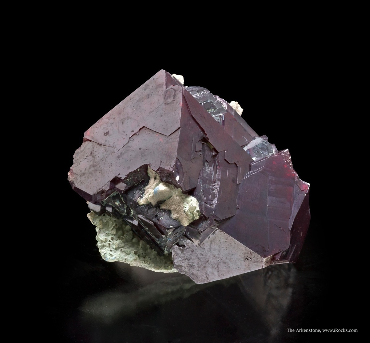 Classic material old Congo mining region blood red sharp cuprites