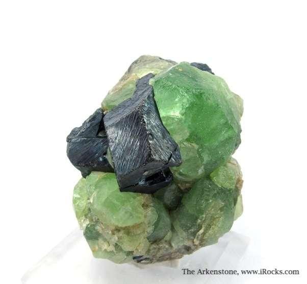 Fine combination Peridot Magnetite Pakistan The mint green Peridot