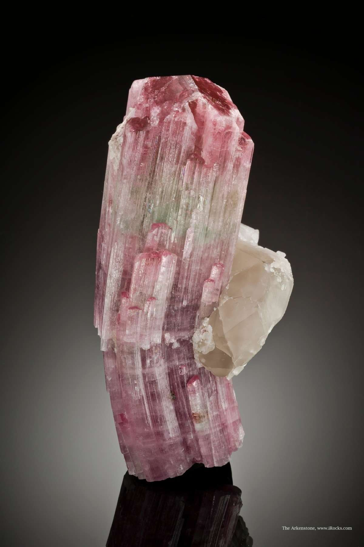 From Herb Obodda collection unusual bent tourmaline growth curvature