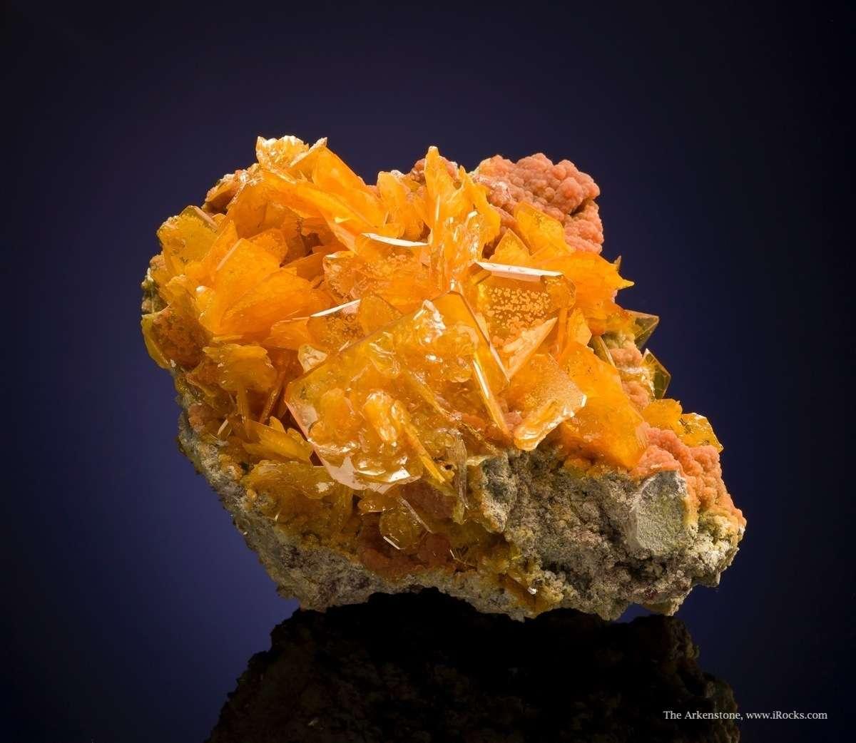 Large examples classic wulfenite mimetite combination specimens rare