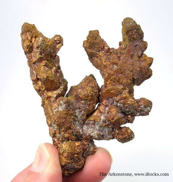 A dramatic arborescent 360 degree Copper specimen stepped crystals