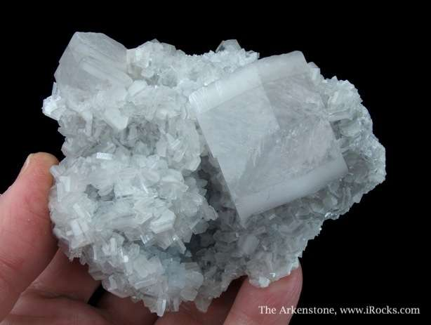 Attractive small cab large small Calcite crystals matrix The larger