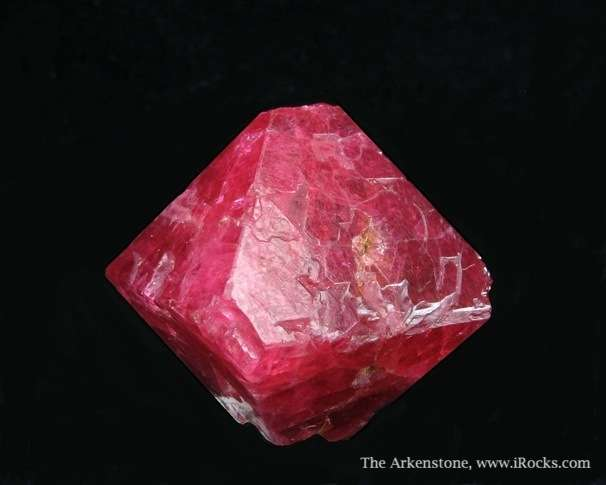 A highly lustous superb deep cherry red Spinel octohedron Mogok Burma