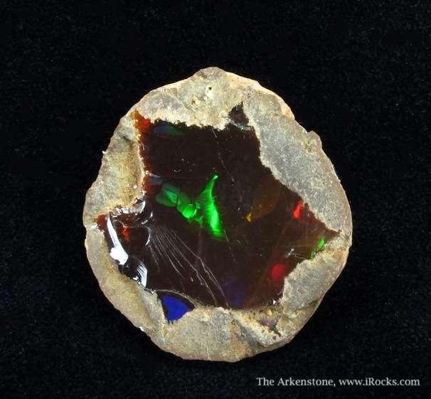 Very fine nodule featuring fiery star shaped Opal pattern natural