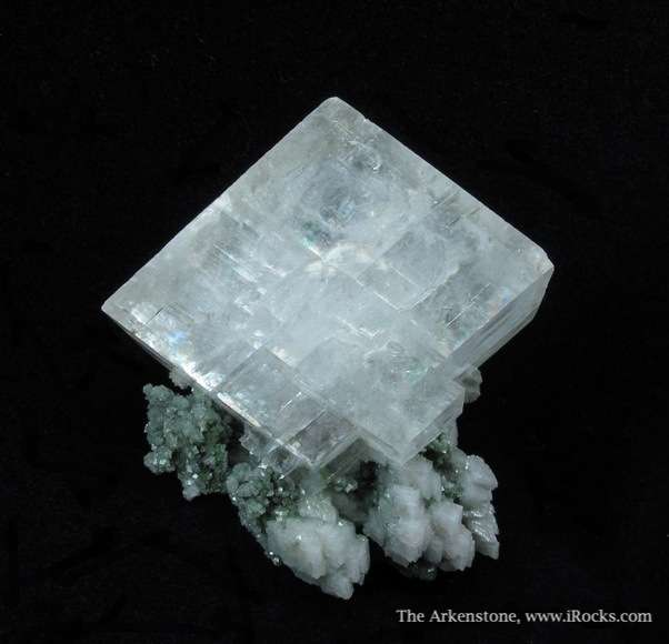 A choice miniature comprised stunning single Calcite rhombohedron