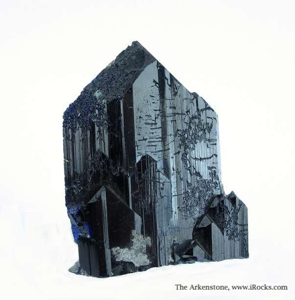Large stout single crystal deep blue Azurite truly stereotypical form