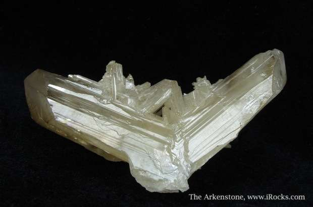 Gleaming beautiful twinned Cerussite looks like polished luster good