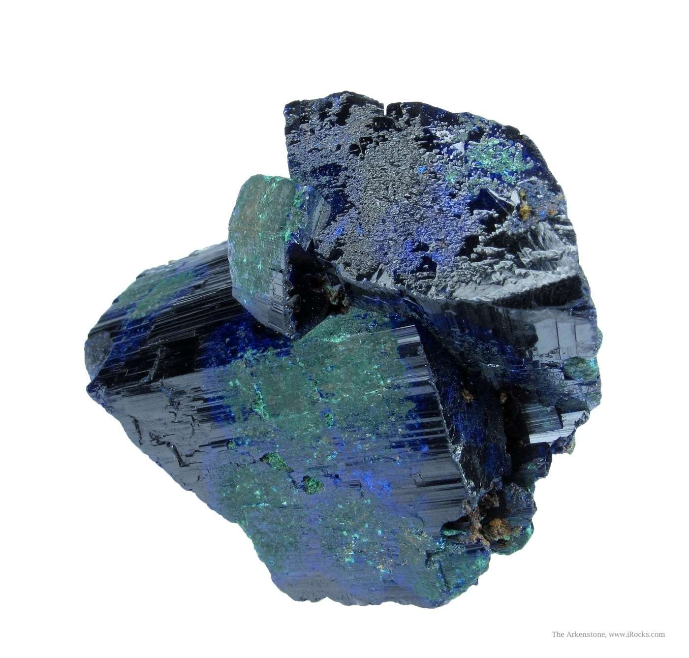 Sharp 3 dimensional choice cluster Azurite crystals quite large
