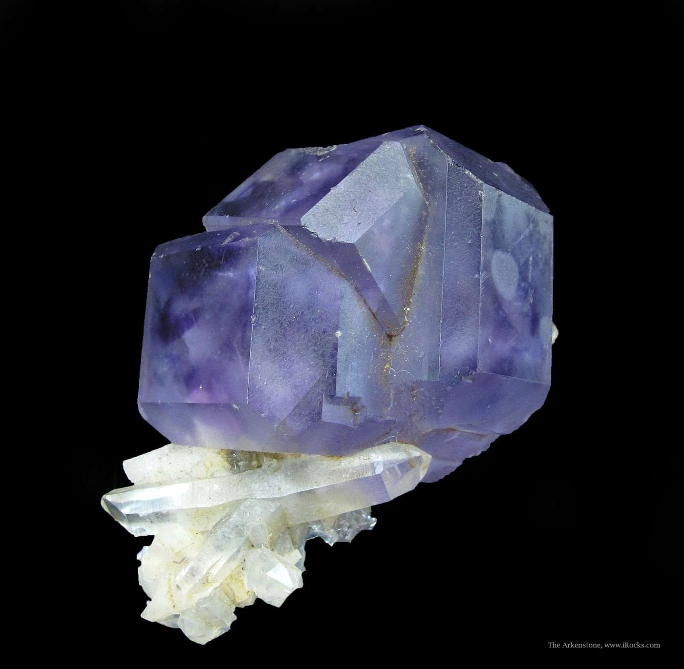Beautiful gemmy cuboctahedral Fluorite crystals quintessential purple