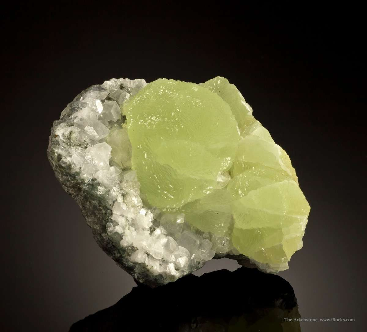 Prehnite Park dull luster old specimens simply planet normally