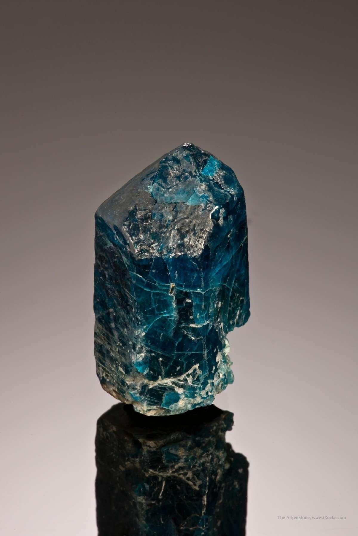 Rare Blue Brazilian Apatite var. Fluorapatite | iRocks Fine Minerals