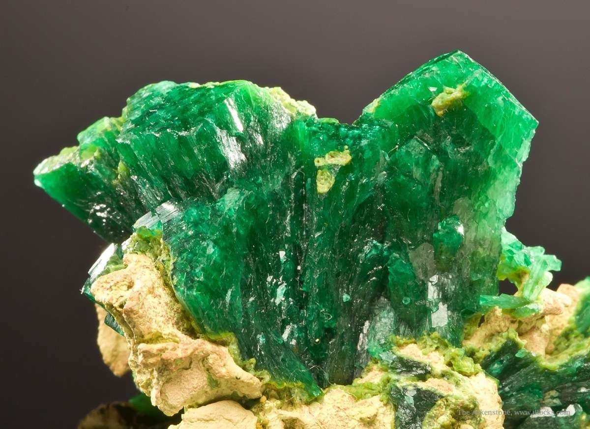Cuprian adamite deeply saturated color style came Tsumeb probably