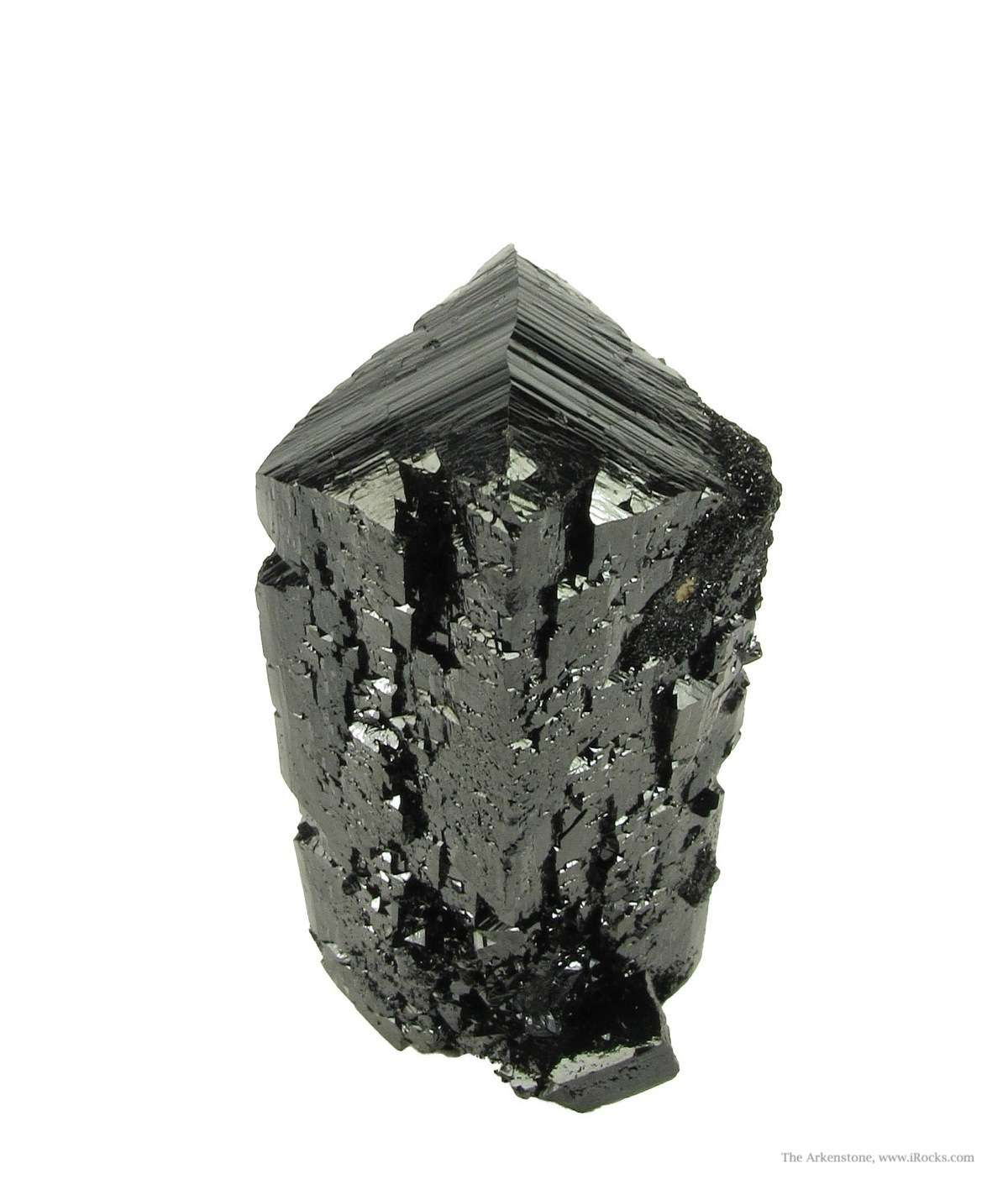 Pristine single doubly terminated Ilvaite crystal famous mines Dal