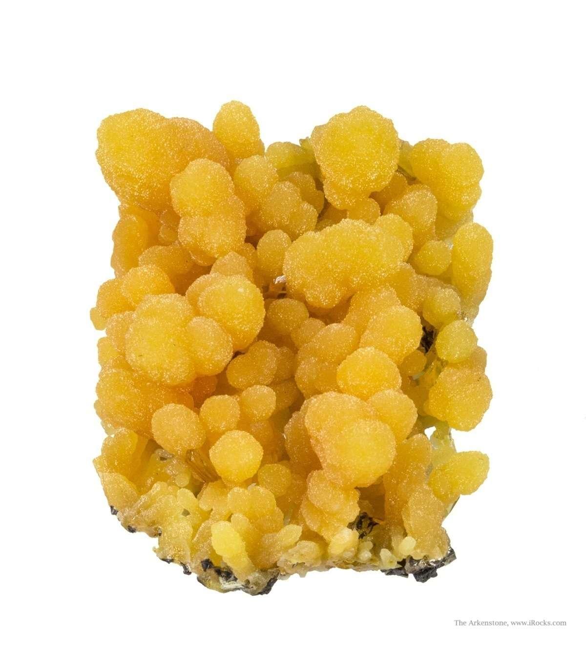 A cute sugary mimetite miniature Ojuela scattered crystals wulfenite