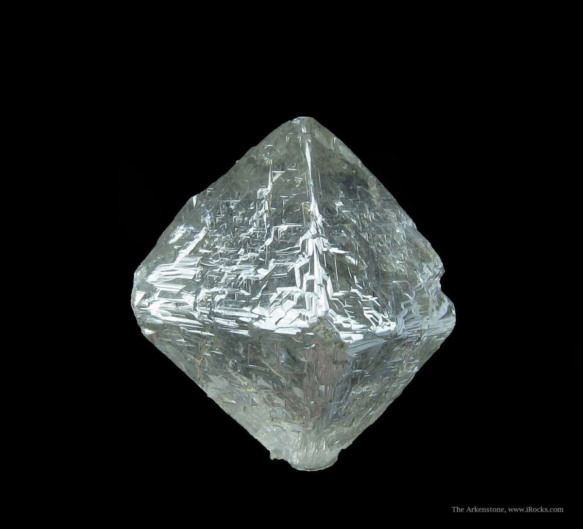A fine textbook Diamond octahedron weighing 15 58 carats The crystal