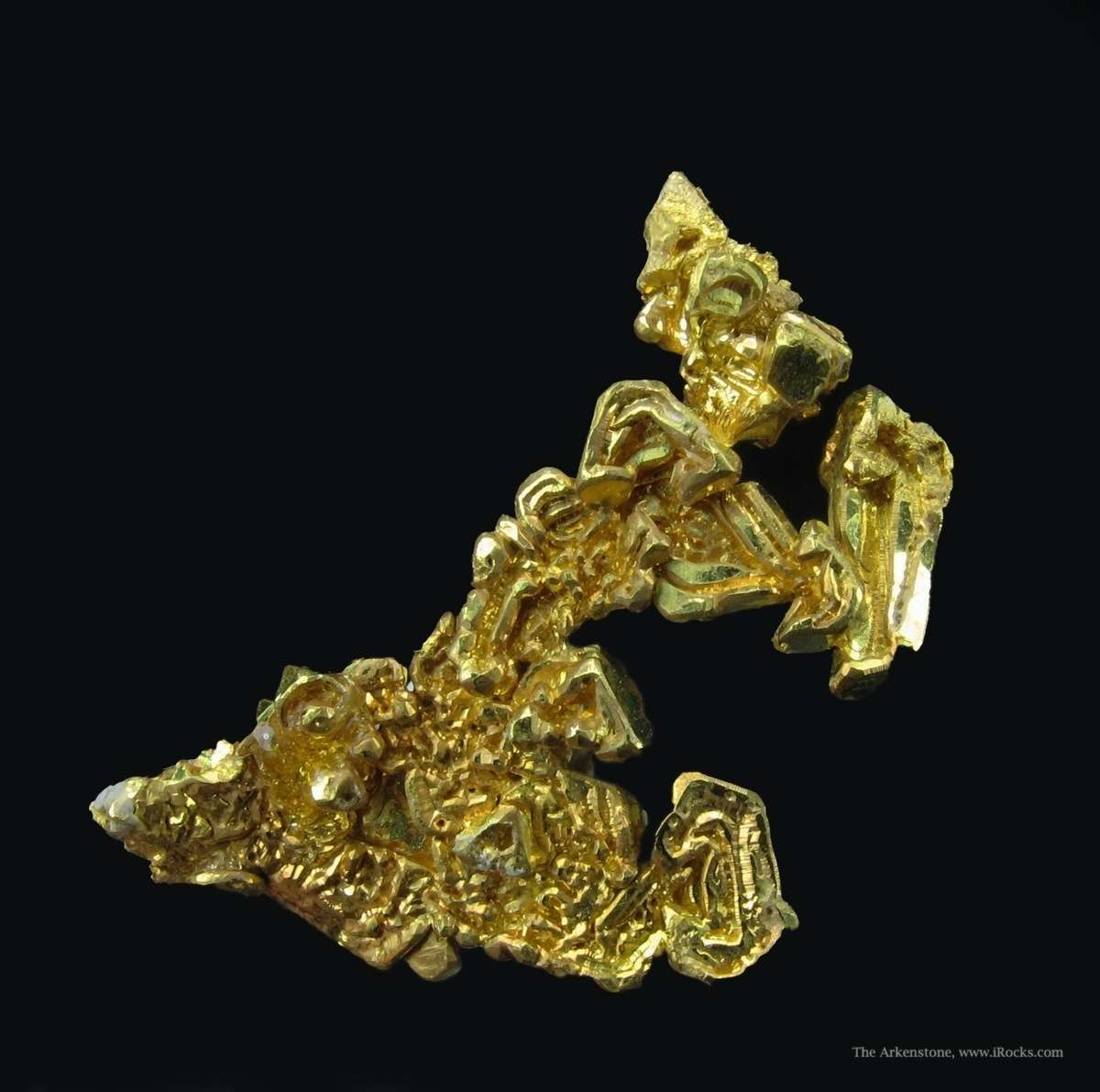 A striking cluster gleaming Gold crystals forming brilliant