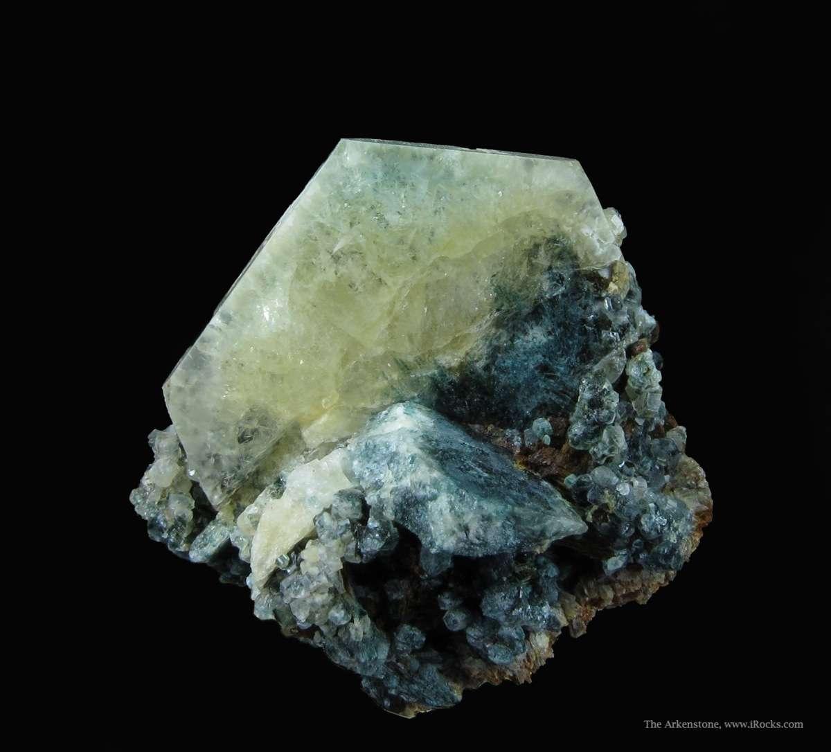A rare exemplary tabular crystal Bobdownsite This single crystal