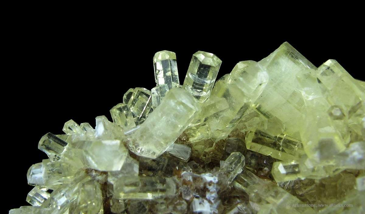 A superb cluster gemmy hexagonal Thaumasite crystals matrix The luster