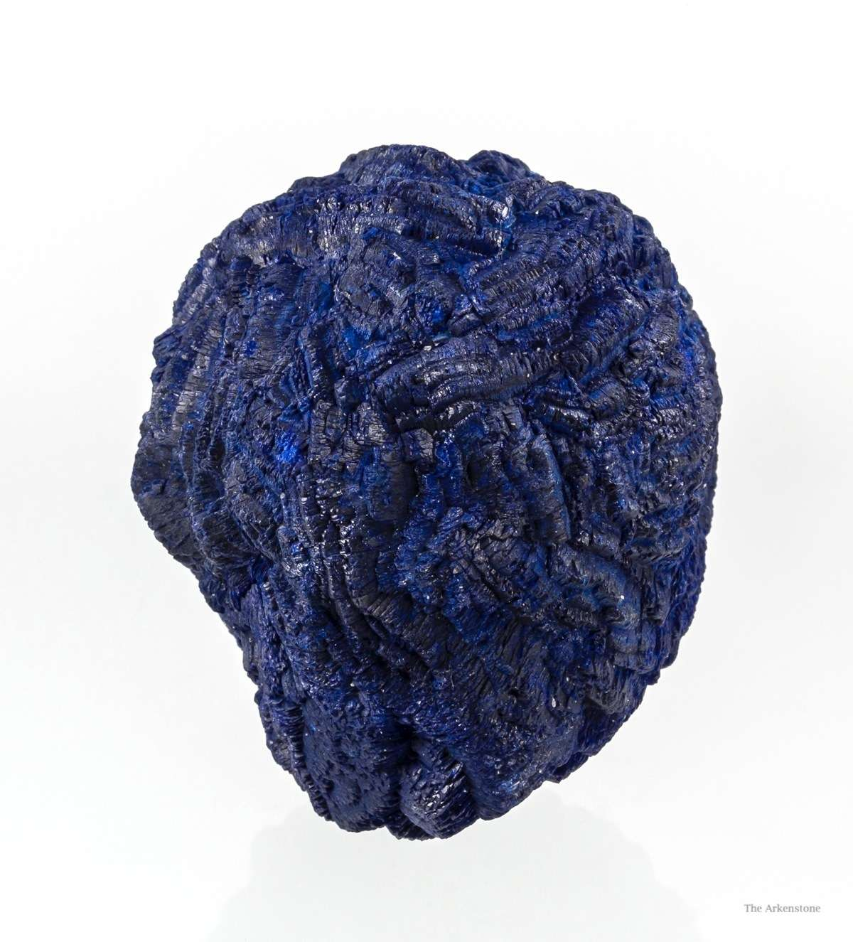 Divergent rich blue crystals formed nearly spherical ball azurite