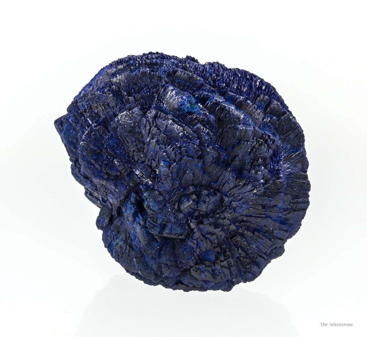 Intergrown rosettes formed azurite ball rich blue color good luster I