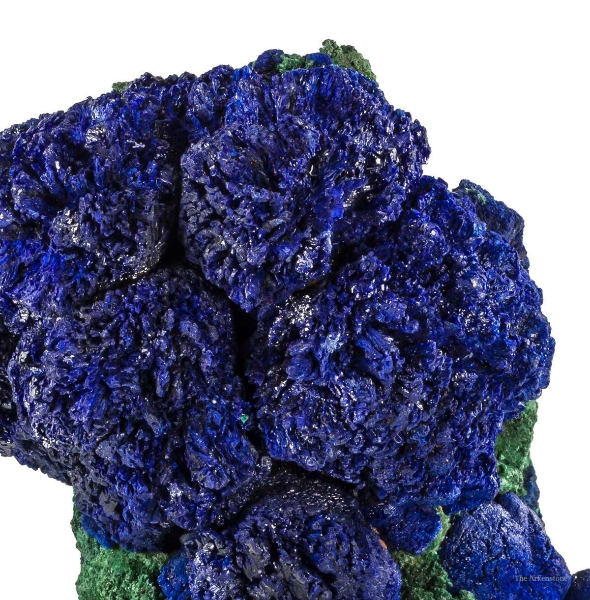 Rosettes lustrous rich blue azurite clusters 3 5 cm aesthetically