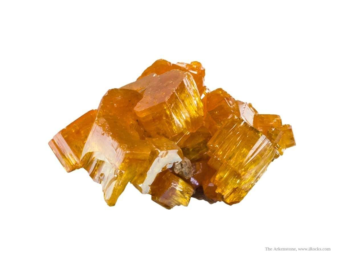 This brilliantly lustrous cluster fiery sparkling yellow mimetite