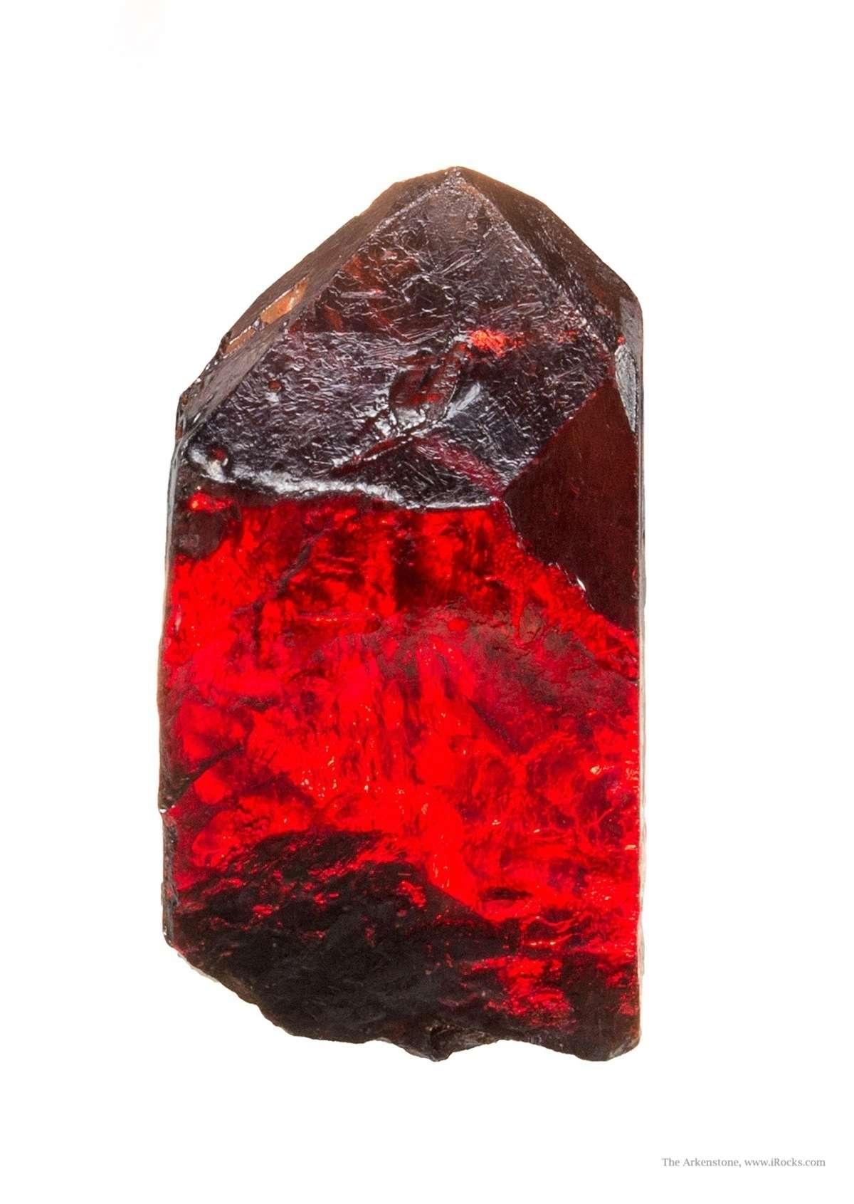 This stunning cherry red crystal GEM zircon world s classic gem fields