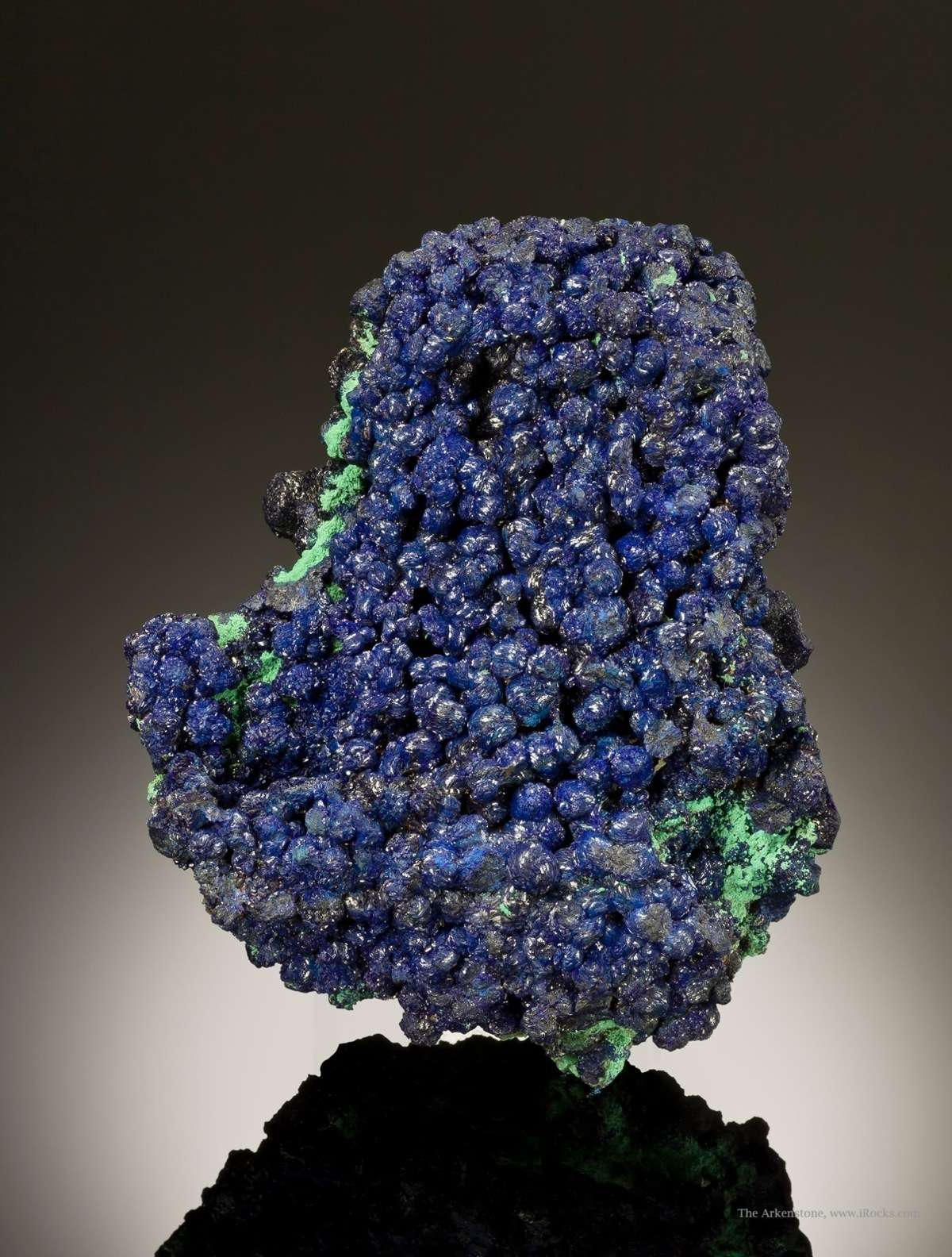 This large sparkly display specimen azurite classic era turn 1900s It