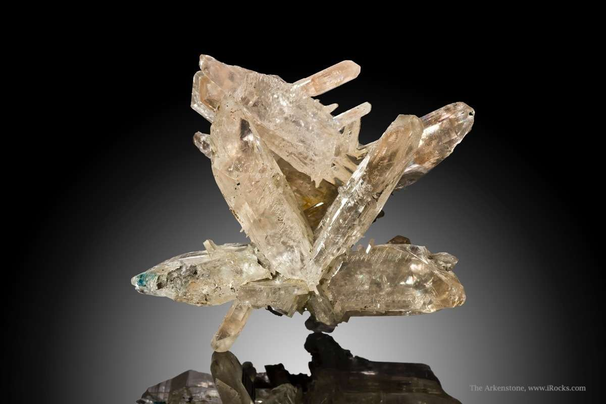 This dramatic classic twinned cerussite 1960s 1970s vintage However