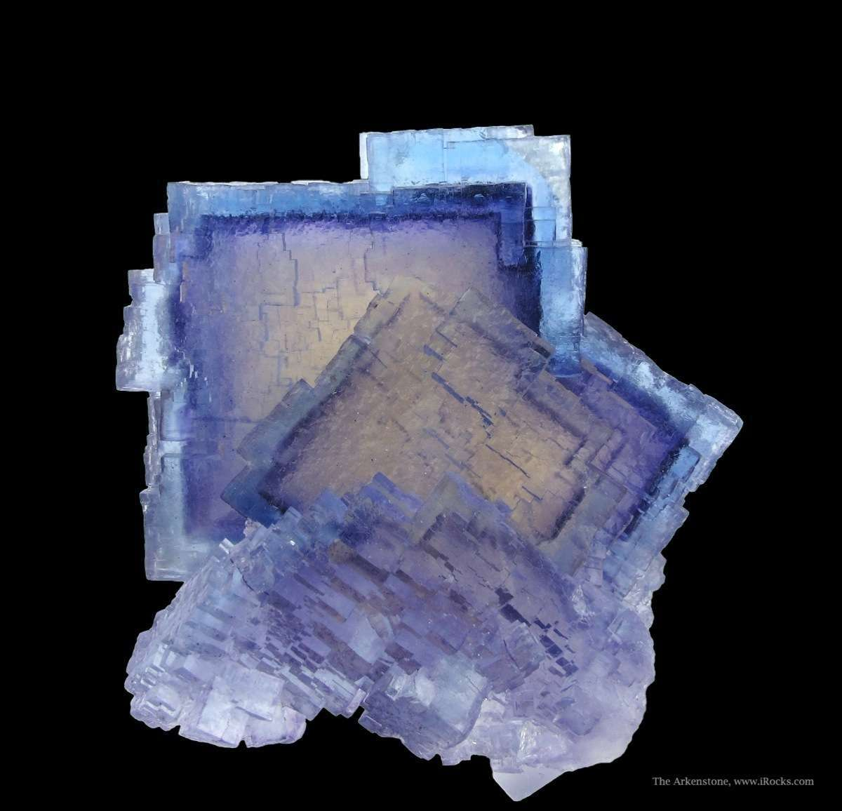 Excellent zoning unusual color highlight attractive cluster fluorite