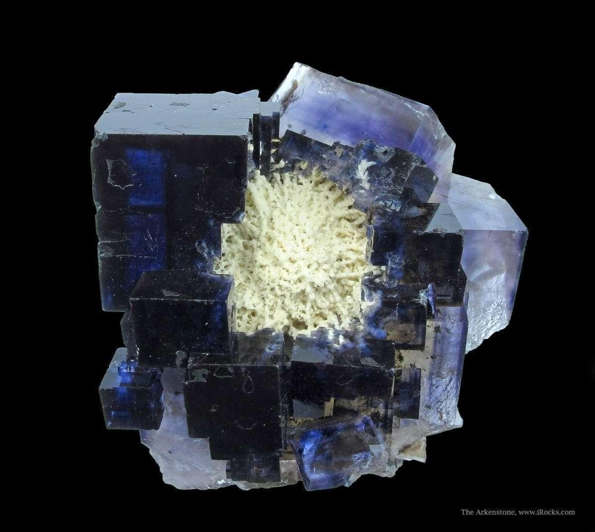 Very nice attractive Fluorite nesting Baryte grew Annabel Lee Mine The