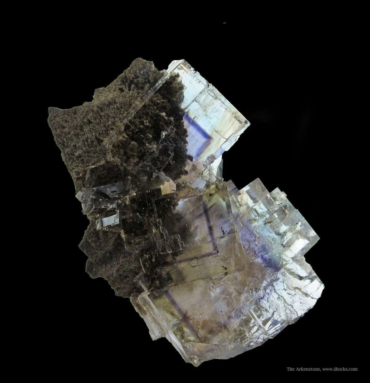 This cluster Minerva Fluorites gemminess glassy luster good color