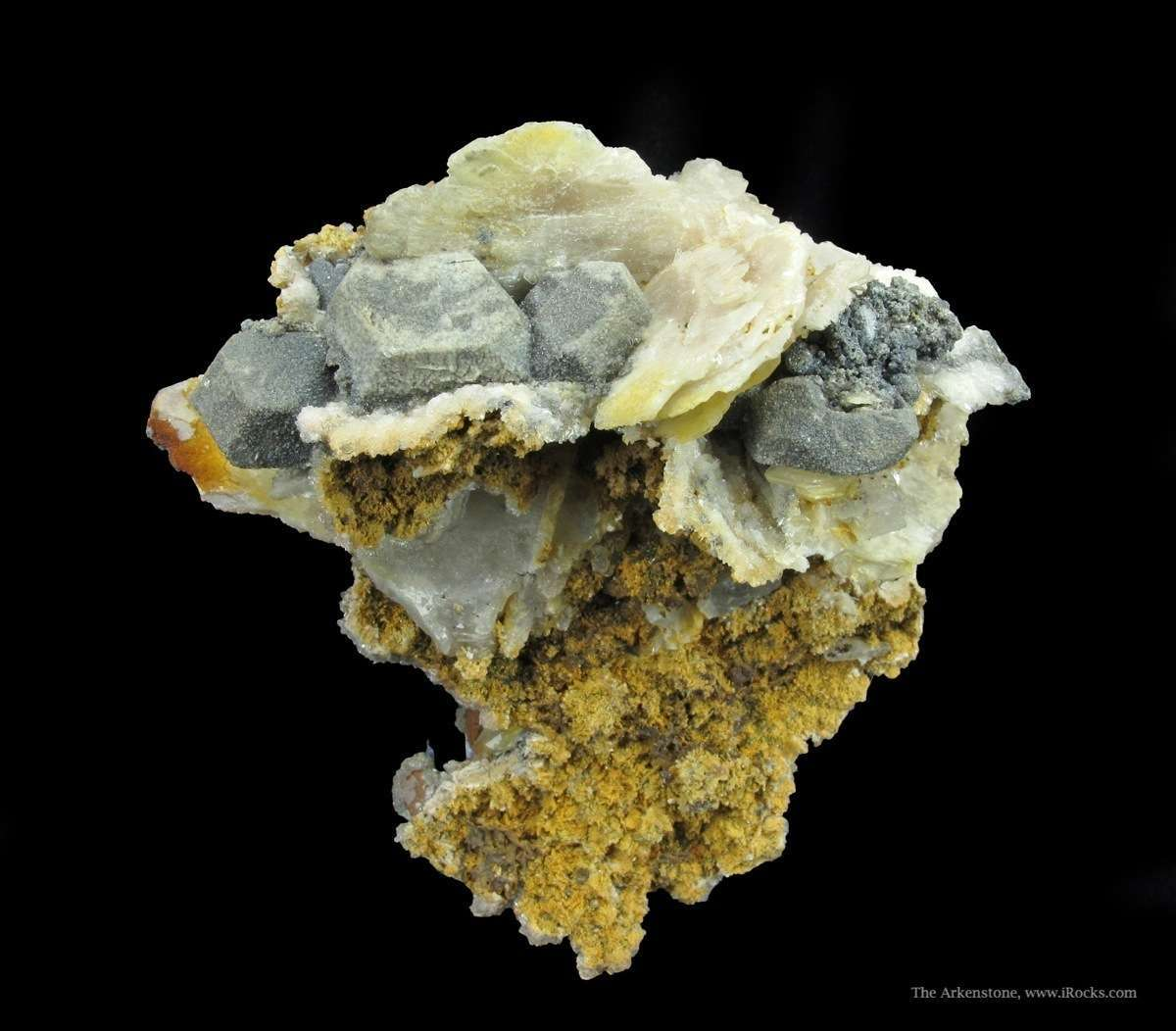 Unusual combination specimen Galena Cerussite famous Monteponi Mine