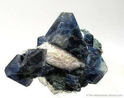 From world s deposit benitoite super specimen natrolite matrix