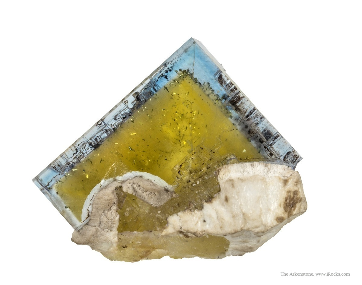 Mined January 1991 glassy gemmy fluorite cube measuring 3 6 cm perched