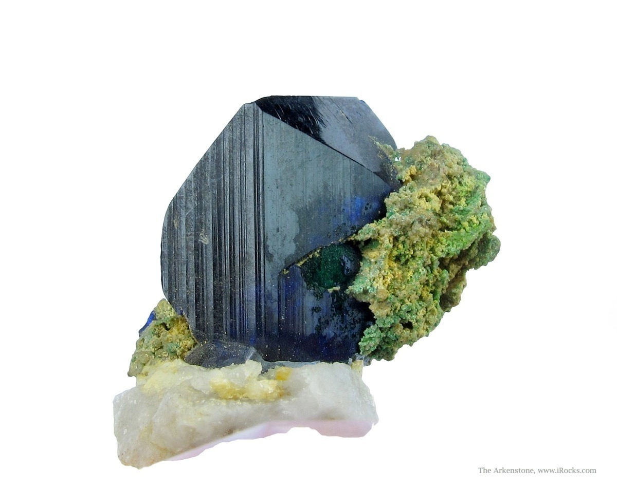 Choice thumbnail containing sharp attractive bladed Azurite crystal