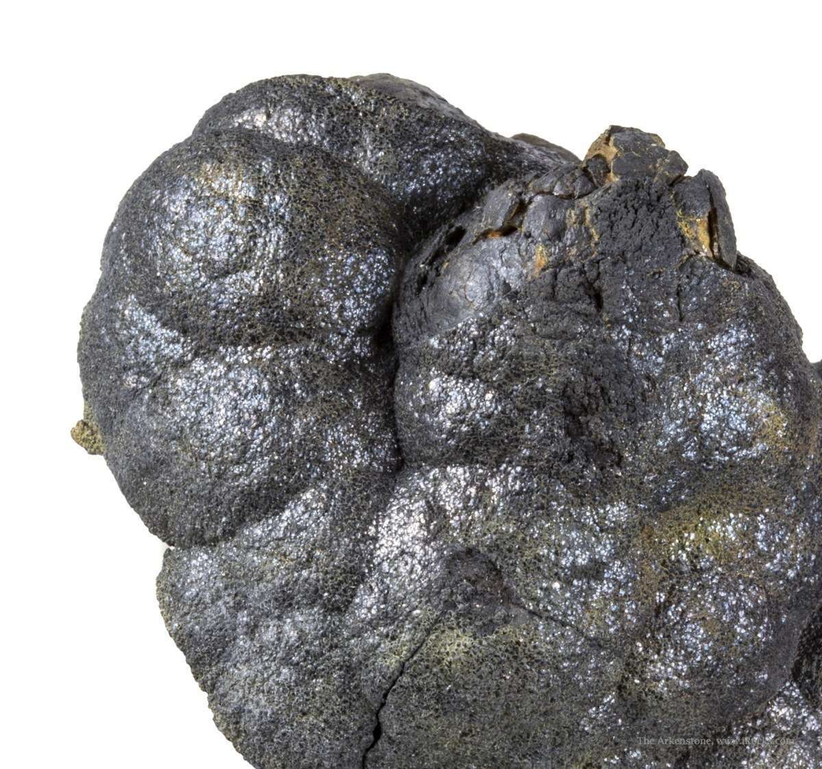 An attractive unusually 3 dimensional plate botryoidal native arsenic