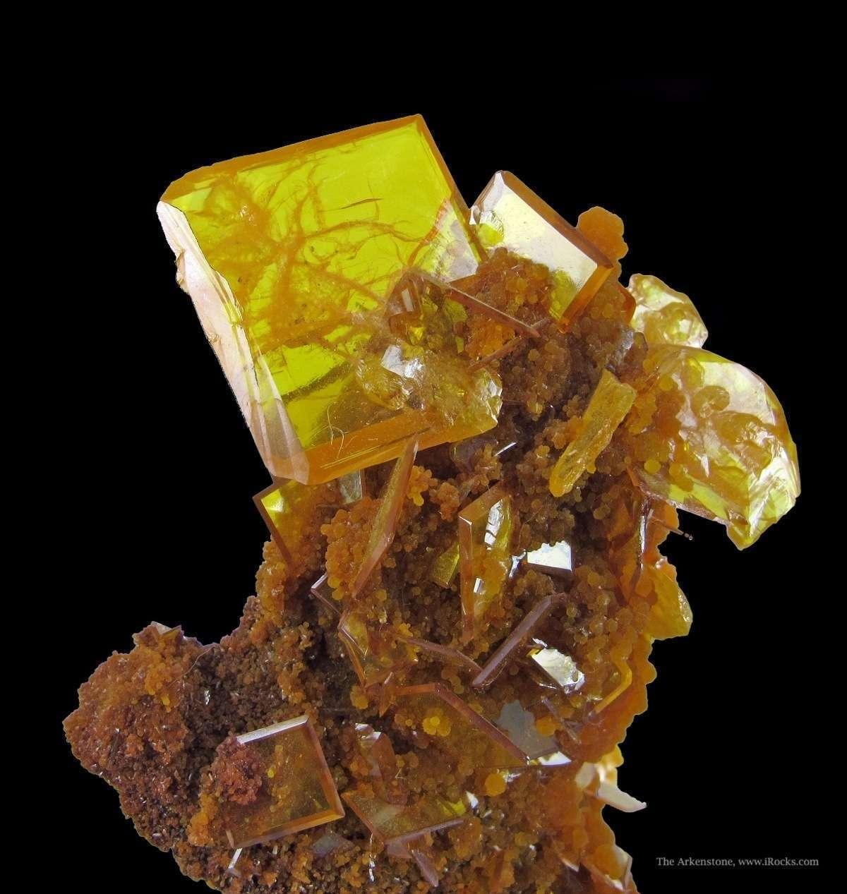 Classic Wulfenite Mimetite combination specimens San Francisco Mine