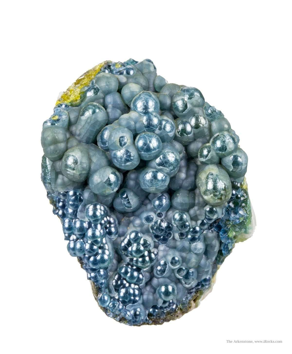 This plumbogummite specimen different coating mineral gives micaceous