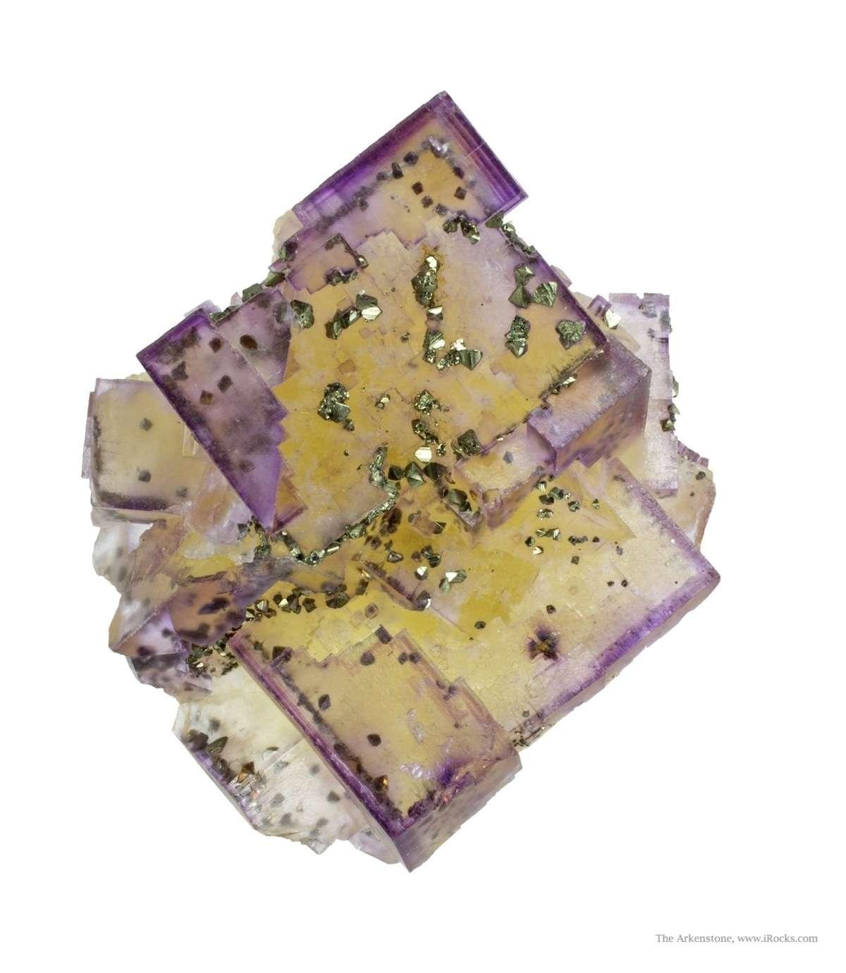 This dramatic fluorite specimen crystals 5 5 cm exhibits stepped
