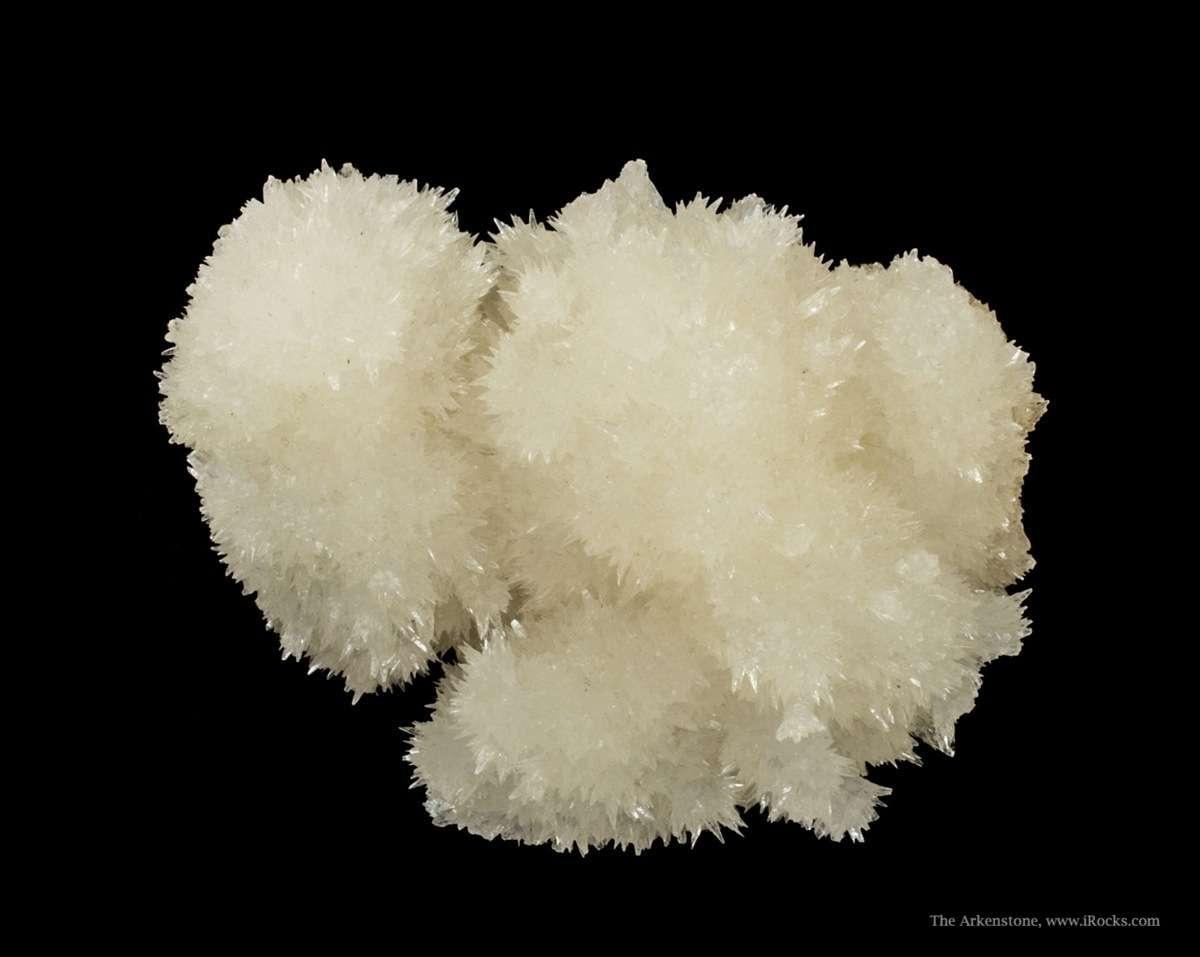 From common core specimen mushroomed 5 clusters lustrous translucent